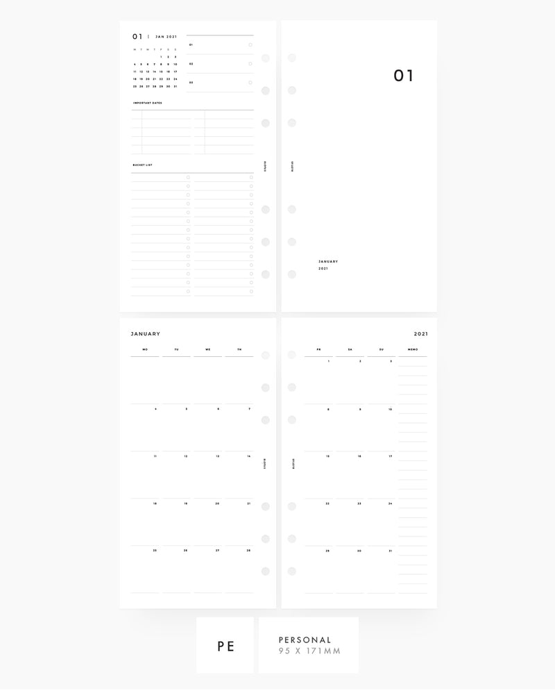 MN016 - 2021 Monthly Planner