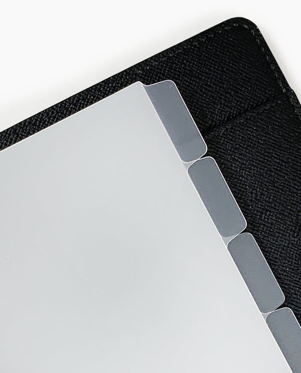 Blank Side Tab Dividers - Frosted