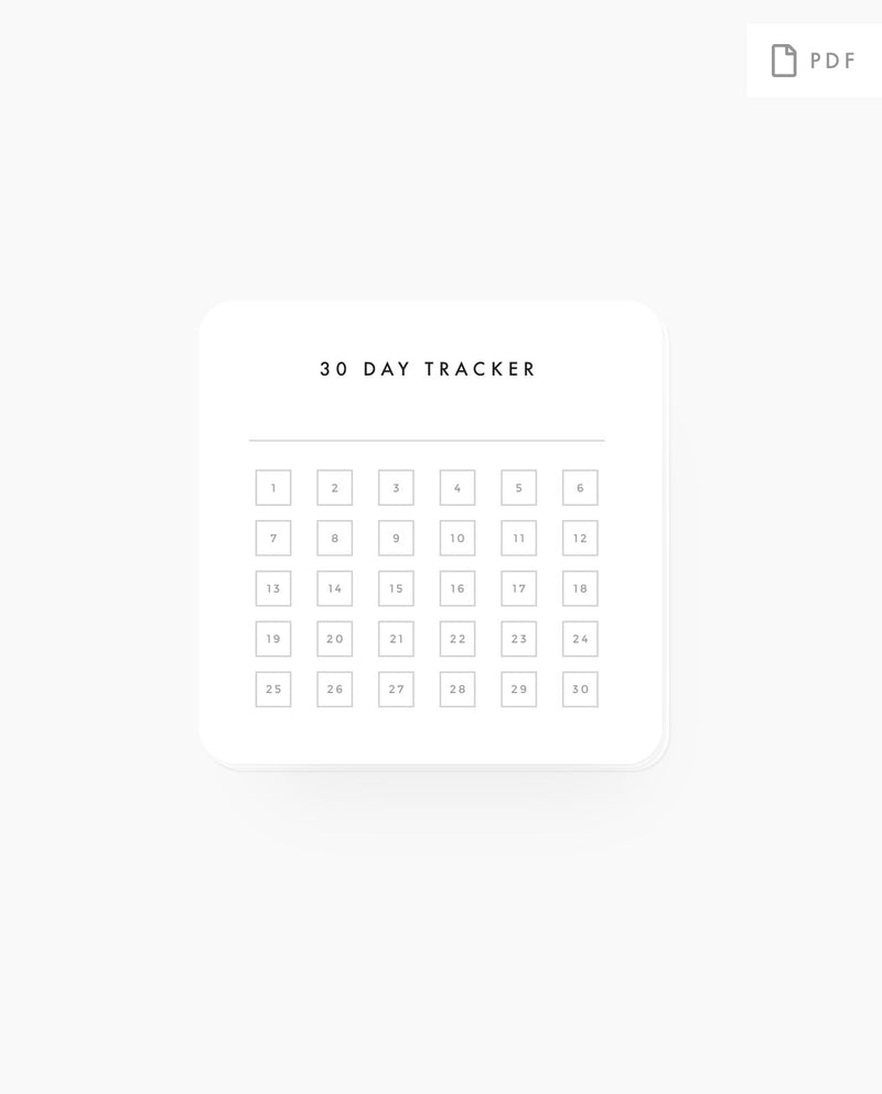 30 Day Tracker - PC PDF