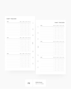 MN001 - Weekly Habit Tracker - PDF