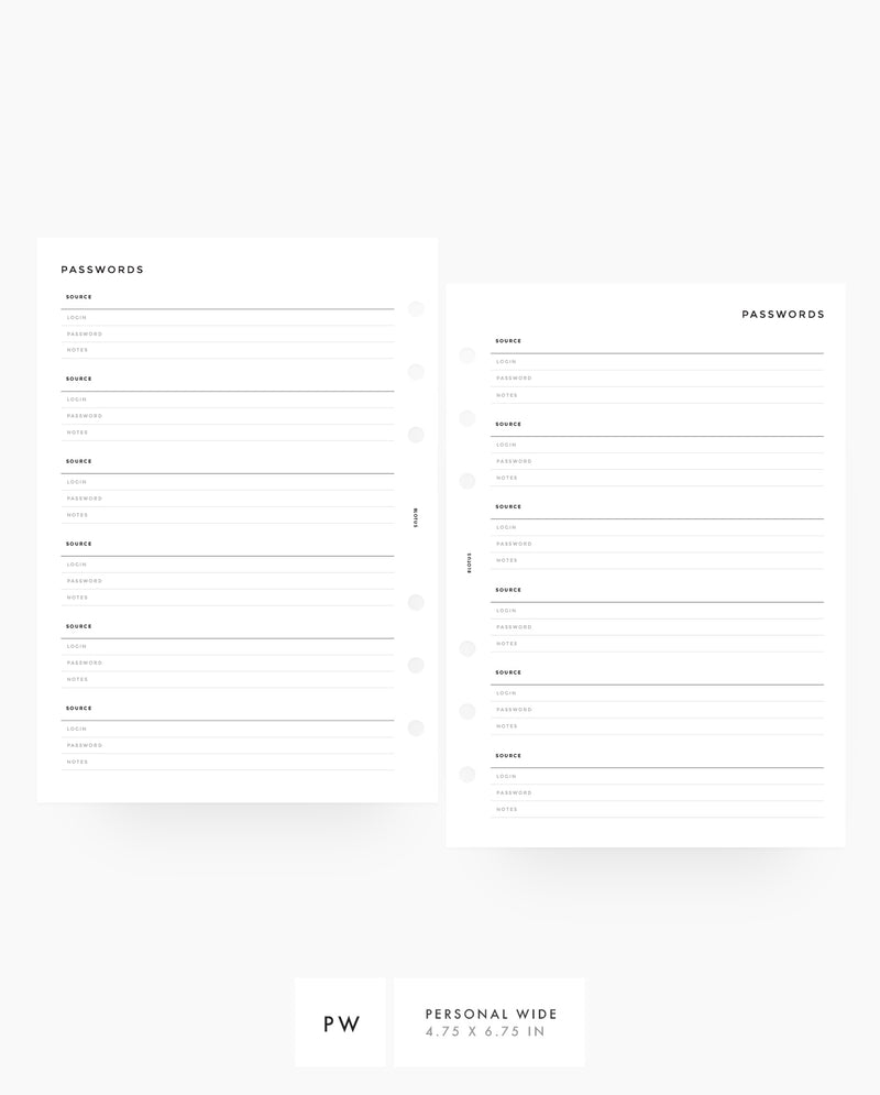 MN009 - Password Tracker - PDF