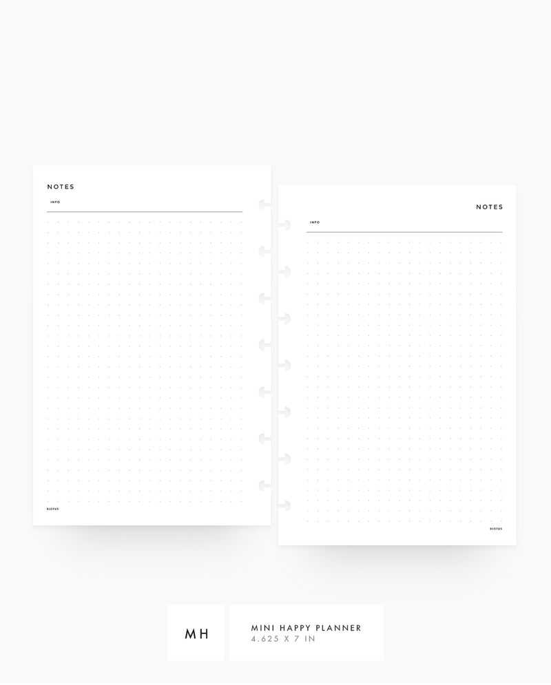 MN013 - Dot Grid PRINTABLE Inserts