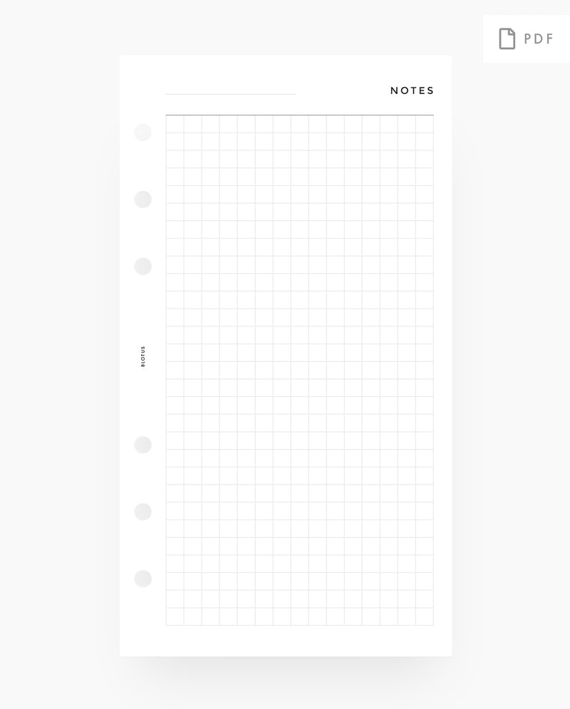 MN014 - Grid Notes - PRINTABLE Inserts