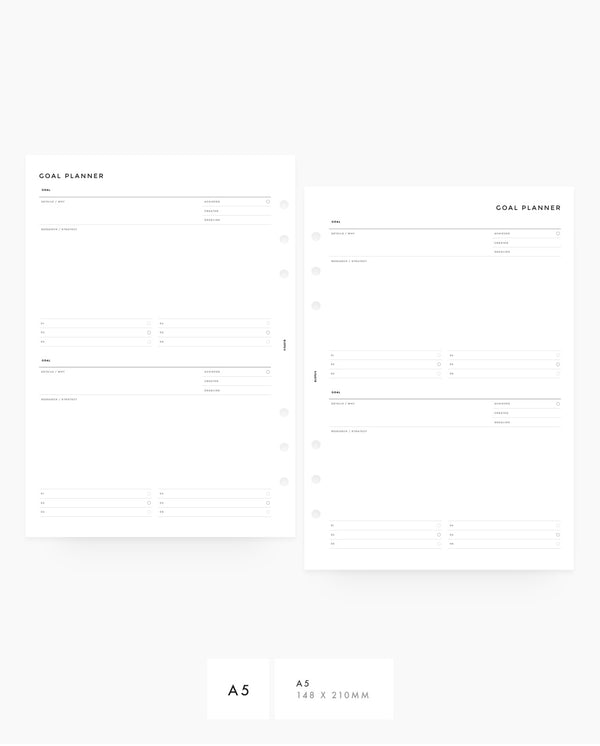 MN039 - Goals Planner Inserts - Printable PDF