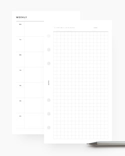 MN041 - Weekly Horizontal & Grid