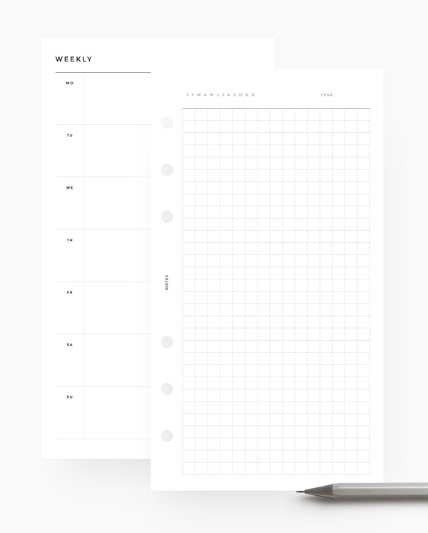 Weekly Horizontal & Grid