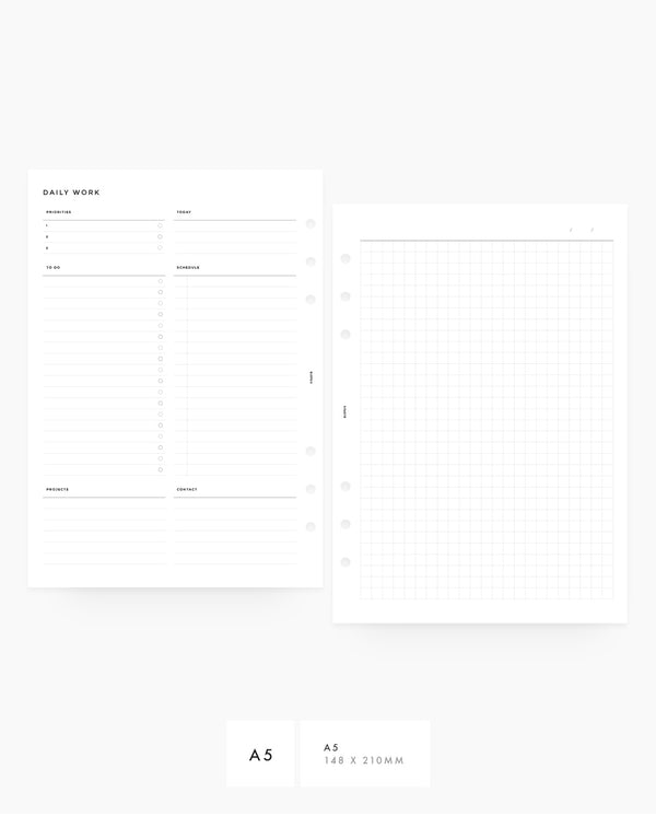MN043 - Daily Work Planner