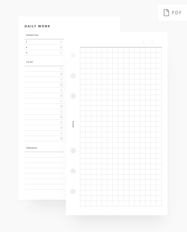MN043 - Daily Work Planner - PDF