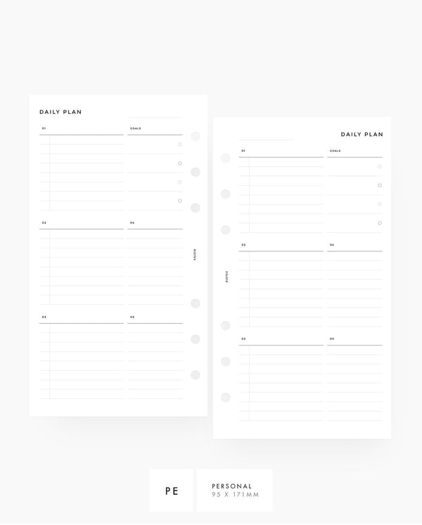 Daily Custom Lists & Notes Printable Planner Inserts Personal Rings