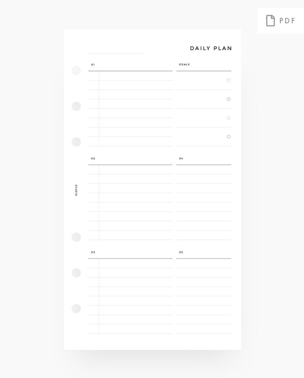 Daily Custom Lists & Notes Printable Planner Inserts