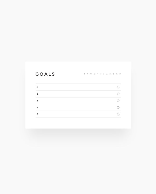 Goals - Wallet Cards