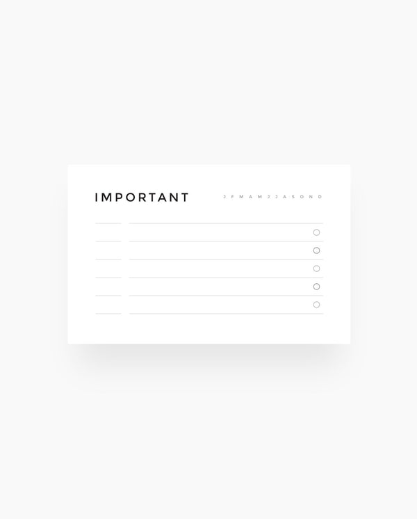 Important Dates - Wallet Cards