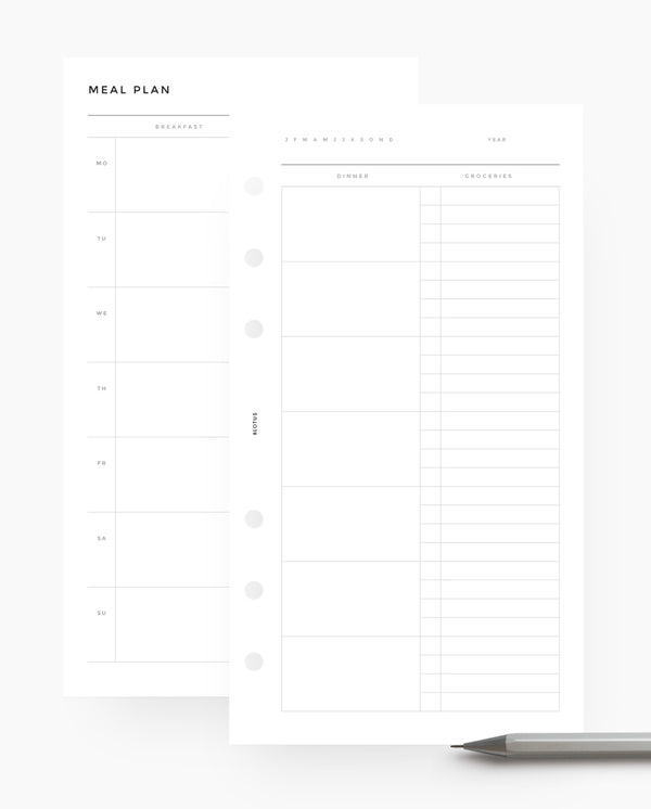 MN030 - Meal Planner Horizontal