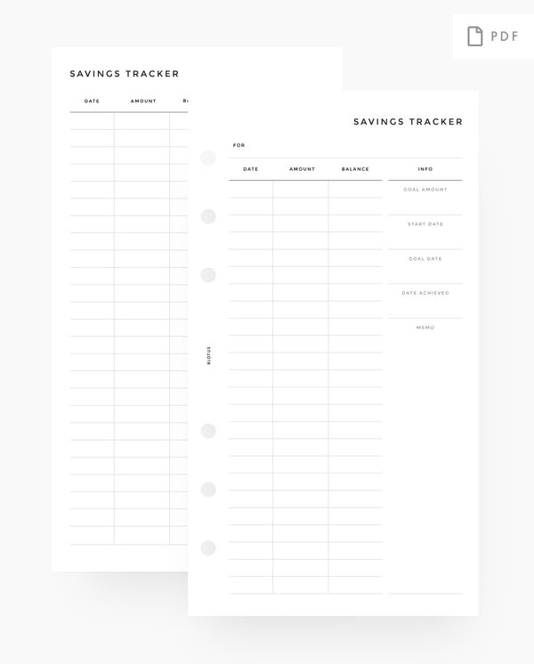 MN046 - Savings Tracker - PDF