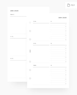 MN008 - 2020 Weekly Custom Lists Planner - WO2P - PDF