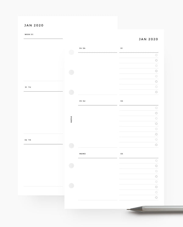 MN008 - 2020 Weekly Custom Lists Planner Wo2P