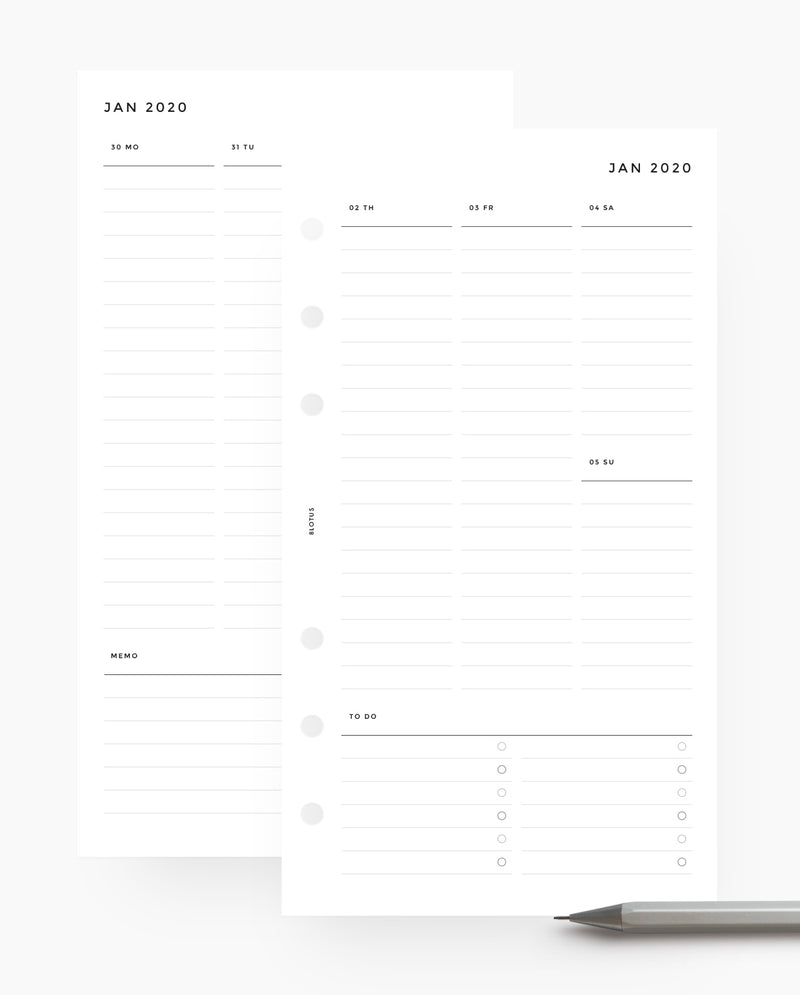 MN025 - 2020 Weekly Timeline Planner Wo2P