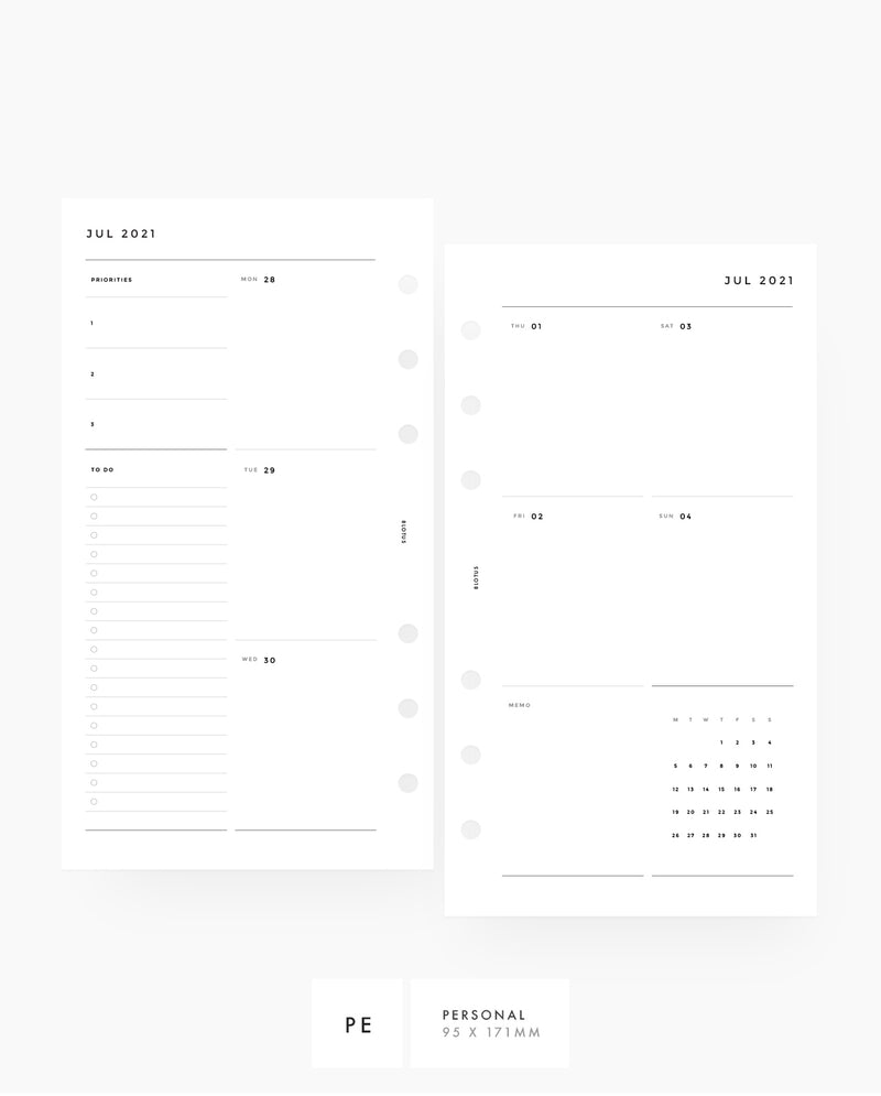 MN088 - 2021 - 2022 Weekly Planner - VERTICAL SECTIONAL (WO2P)