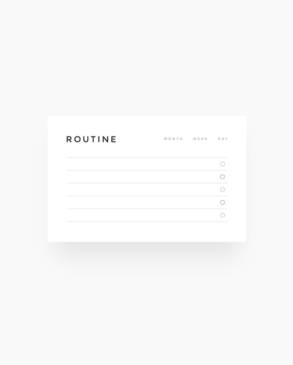 Routine -  Wallet Cards