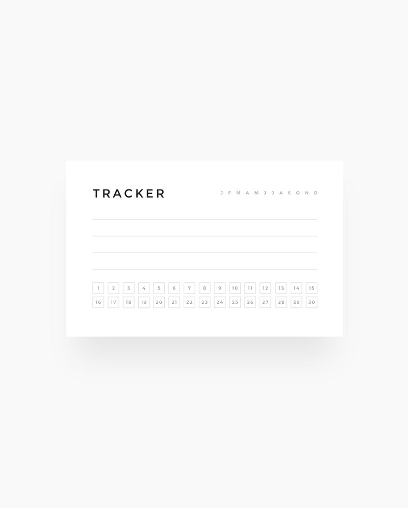 30 Day Tracker - Wallet Cards