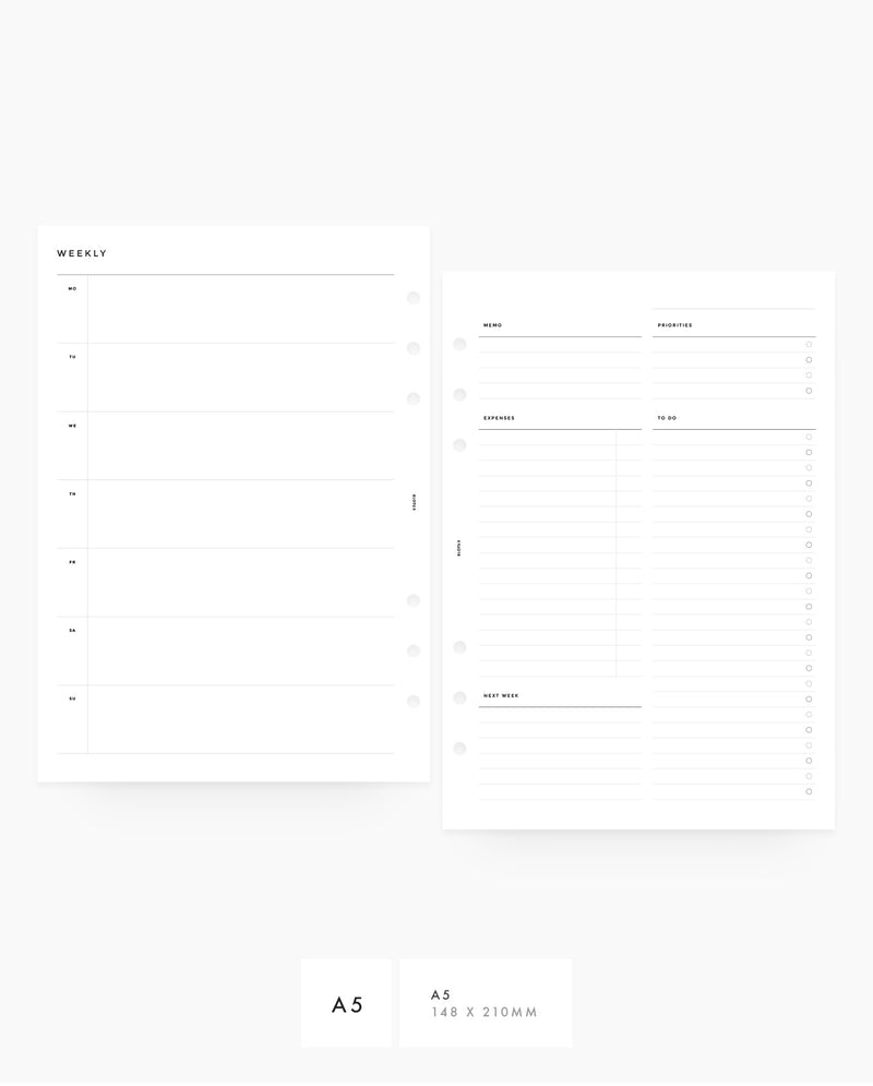 MN021 - Weekly Horizontal w/ Expenses - PDF