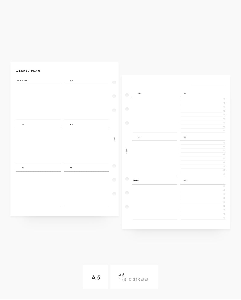 MN008 - Weekly Vertical Custom Lists - PRINTABLE Inserts