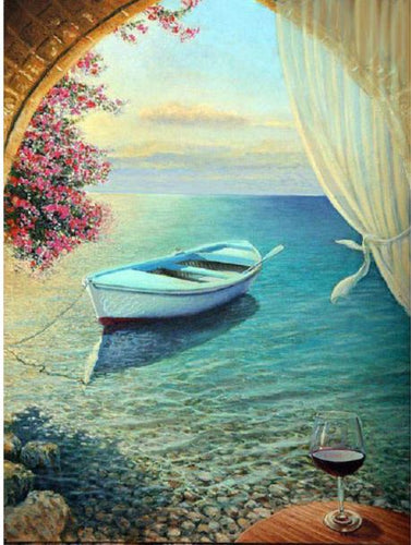 SOLITARY BOAT - DIAMOND PAINTING KIT