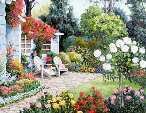 BEAUTIFUL GARDEN LANDSCAPE - DIAMOND PAINTING KIT