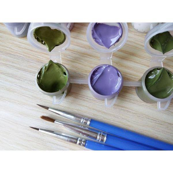 VIOLET BUTTERFLIES - DIY PAINT BY NUMBERS KIT