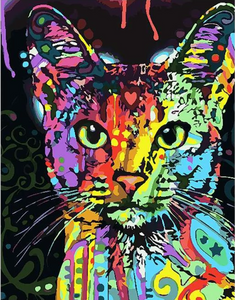 ABSTRACT CAT - DIY PAINT BY NUMBERS KIT