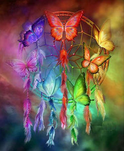 DREAMCATCHER BUTTERFLIES - DIAMOND PAINTING KIT