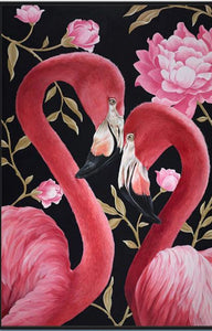 FLAMINGO COUPLE - DIAMOND PAINTING KIT
