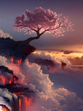 CHERRY BLOSSOM VOLCANO - DIAMOND PAINTING KIT