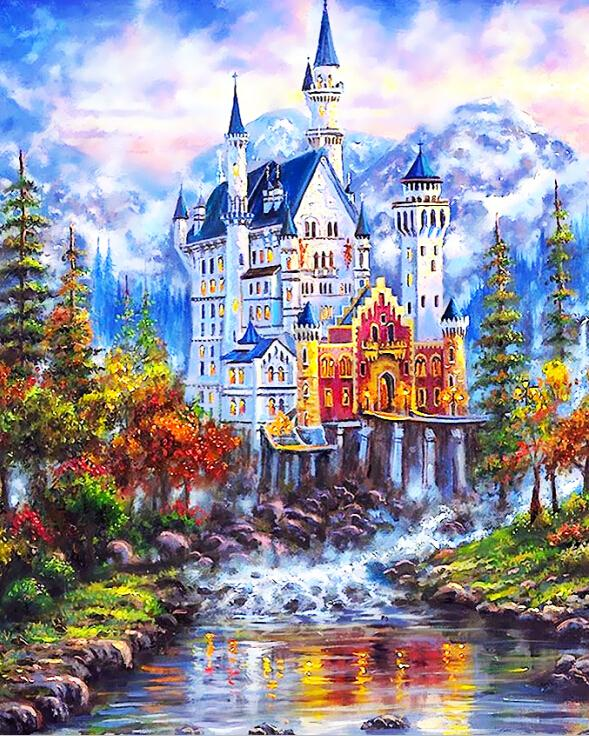 COLORFUL CASTLE - DIY PAINT BY NUMBERS KIT