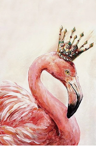 FLAMINGO KING - DIY PAINT BY NUMBERS KIT