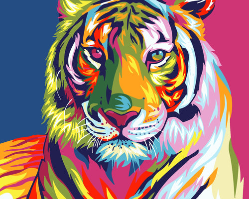 COLORFUL TIGER - DIY PAINT BY NUMBERS KIT