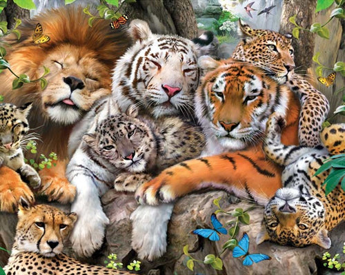 LION AND TIGERS - DIAMOND PAINTING KIT