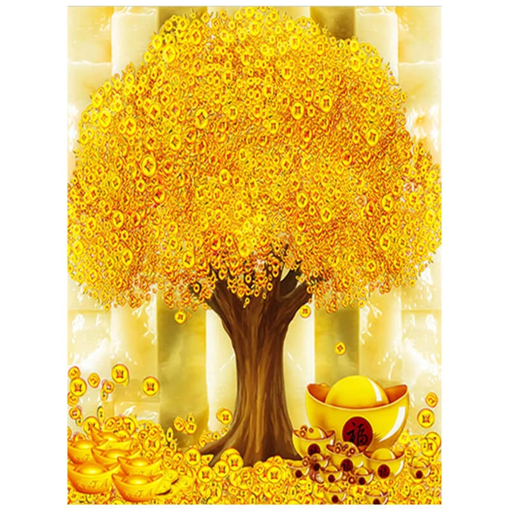 LUCKY MONEY TREE - DIAMOND PAINTING KIT
