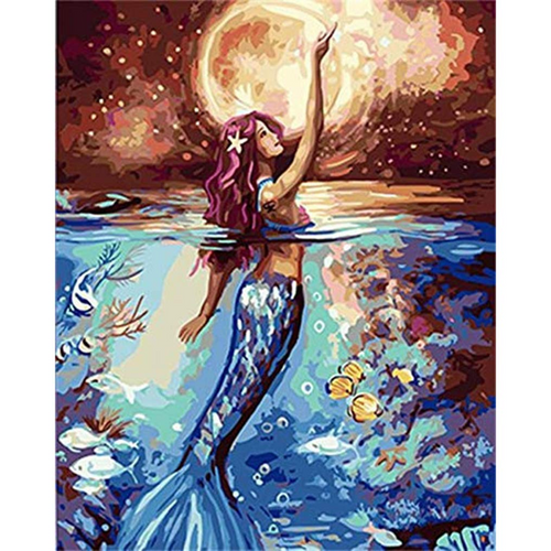 MERMAID'S TALE - DIY PAINT BY NUMBERS KIT
