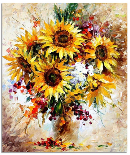 SUNFLOWERS - DIY PAINT BY NUMBERS KIT