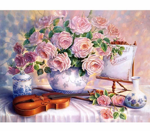 SERENADE WITH FLOWERS - DIY PAINT BY NUMBERS KIT
