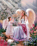 ANGELS IN THE GARDEN - DIAMOND PAINTING KIT