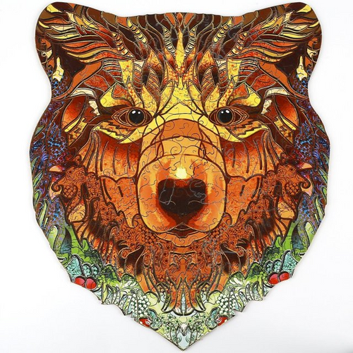 STRONG BEAR - WOODEN JIGSAW PUZZLE