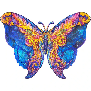 INTERGALAXY BUTTERFLY - WOODEN JIGSAW PUZZLE