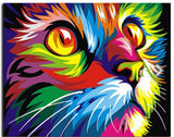 COLORFUL CAT - DIY PAINT BY NUMBERS KIT
