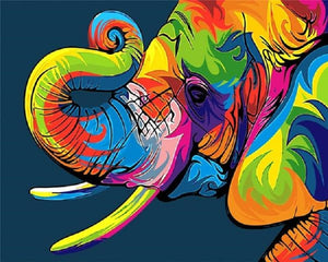 COLORFUL ELEPHANT - DIY PAINT BY NUMBERS KIT