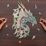 MYSTERIOUS DRAGON - WOODEN JIGSAW PUZZLE