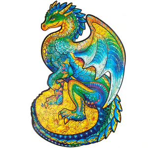 GUARDING DRAGON - WOODEN JIGSAW PUZZLE