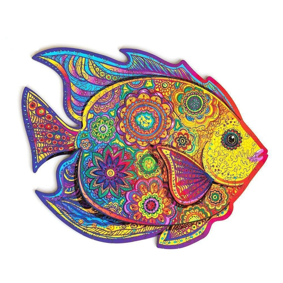 SHINING FISH - WOODEN JIGSAW PUZZLE