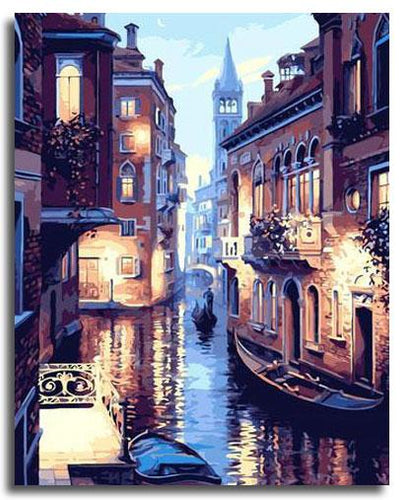 GONDOLA NIGHT RIDE - DIY PAINT BY NUMBERS KIT